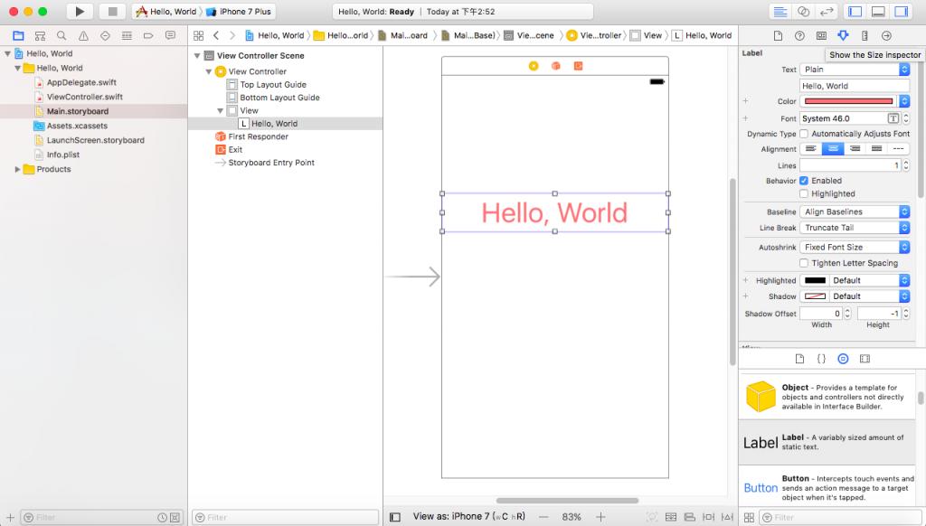 Swift教學 Hello World edit